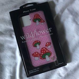 Wildflower Mushroom iPhone 11 Phone Case